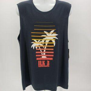 NWT I Love Kickboxing Black Palm Tree Muscle Tee